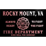 qy68244-r FIRE DEPT ROCKY MOUNT, VA VIRGINIA Firefighter Neon Sign Enseigne Lumineuse