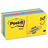 Ultra Color Notes, 3 x 3, Five Colors, 14 100-Sheet Pads/pack