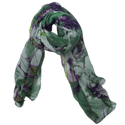Green Changeshopping Lady Long Cute Bird Print Scarf Wraps Shawl Soft Scarves