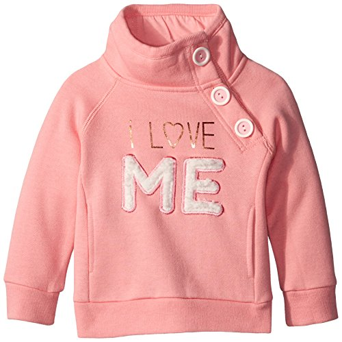 Pumpkin Patch Little Girls' I Love Me Side Button Sweat, Quartz Pink, 4T