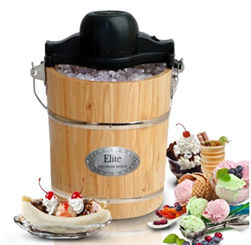 Home Kitchen Gourmet 6 Qt. Old Fashioned Ice Cream Machine Desserts