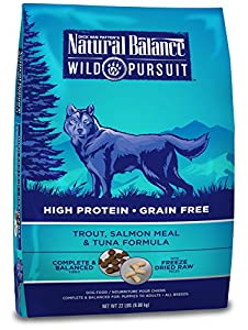 Natural Balance Wild Pursuit Trout, Salmon Meal & Tuna Formula Dry Dog Food, 22-Pound