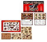 Military Flash & Stars & Stripes Tattoo Book Bundle of 2 books 101 Pages