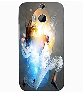 ColourCraft Dancing Girl Design Back Case Cover for HTC ONE M8