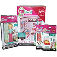 Mi World Mrs. Fields Cookie Shop, Complete With Starter Set, Shop Girl, And 2 Collector Pack Accessory Sets With...