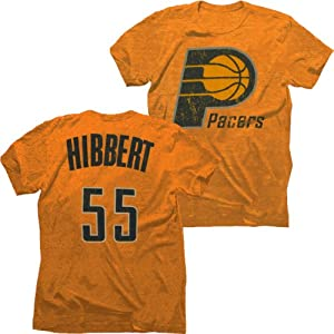 Indiana Pacers NBA Roy Hibbert #55 Tri-Blend Name & Number T-Shirt S by Majestic Threads