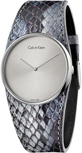 Calvin Klein K5V231Q4 Ladies Spellbound Grey Leather Strap Watch