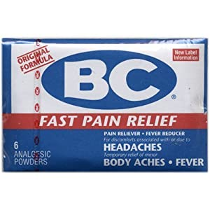 BC Fast Pain Relief Powder, New Formula - 6 Analgesic Powders ea