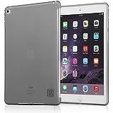iPad Air 2 Case - KAYSCASE Premium Slim Soft Gel TPU Cover Case iPad 6 ( 6 generation ) case, iPad Air 2 case, iPad case 2014 Version, New iPad Air case, Smart Cover Compatible (Lifetime Warranty) (Smoked)