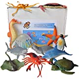 Sea Creature Toy Animal Figures - set of 12
