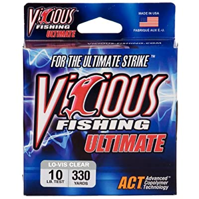 Vicious Fishing VCL-10 Ultimate 330-Yard Fishing Line, Low Visibility Clear, Blue from Vicious Fishing