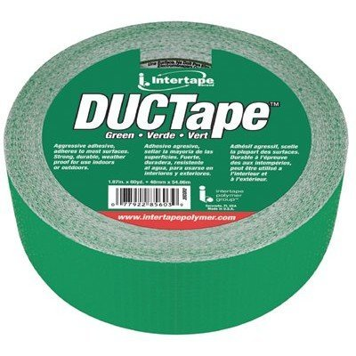 Intertape-AC20-Utility-Grade-Cloth-Duct-Tape-2-Inch-X-60-Yards-Green-Color-4-Rolls-per-order
