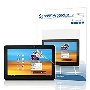 amCase (TM) Premium Screen Protector Film Clear (Invisible) for Samsung Galaxy Tab 10.1 inch Touchscreen Tablet (2 Pack) (NOT compatible with Galaxy Tab 2)