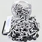 Aluminium Tub Dome/Fairing Bolts M5 100 Piece Silver