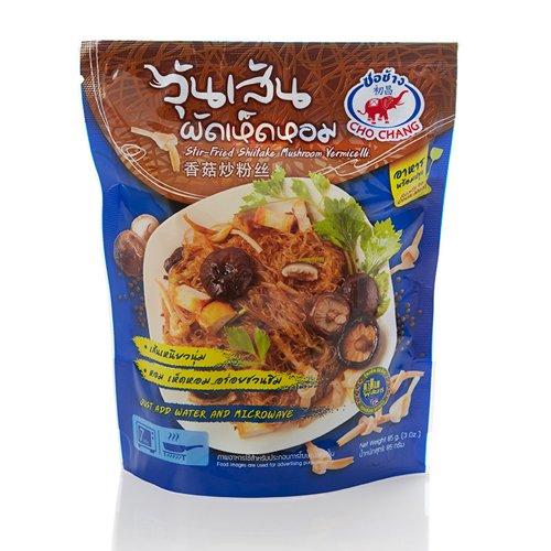 Cho Chang Stir-Fried Shiitake Mushroom Vermicelli Microwave Meal Food 3 Oz. Pack Of 3