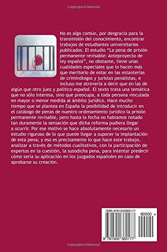 La pena de prisión permanente revisable: Anteproyecto de ley español