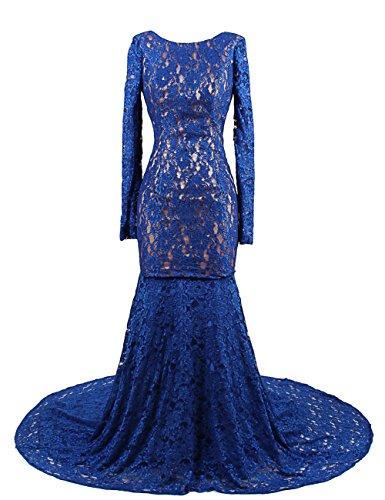 5a838bd74ae5 Dresstells™ Long Mermaid Prom Dress Backless Wedding Dress with Long Train  Royal Blue Size 2
