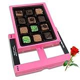 Valentine Chocholik's Belgium Chocolates - Tasty Pralines Chocolates For Love One With Red Rose