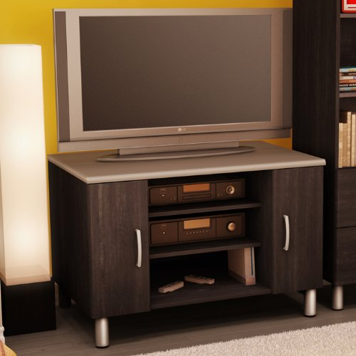 Cheap Black Onyx/Charcoal TV Stand (3127-605)