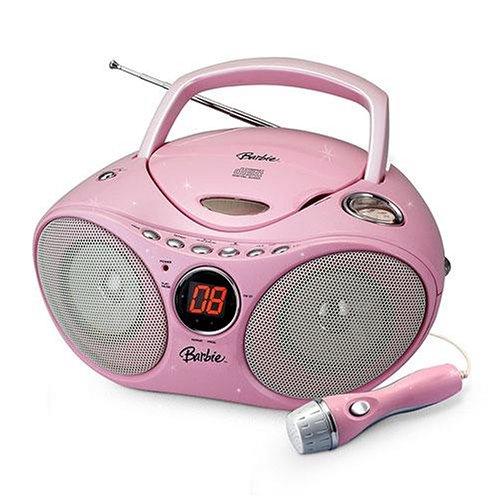 Barbie Karaoke CD Player AM/FM Radio Boombox
