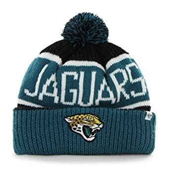 NFL Jacksonville Jaguars Mens Calgary Knit Cap, One Size, Black by