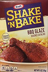 Shake 'N Bake Seasoned Coating Mix, BBQ Glaze, 6-Ounce Boxes (Pack of 8)