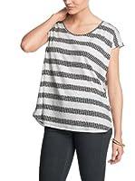 Esprit Camiseta Manga Corta (Gris / Blanco)
