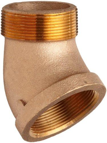 "Lead Free Brass Pipe Fitting, 45 Degree Street Elbow, Class 125, 1/2"" NPT Male X Female"