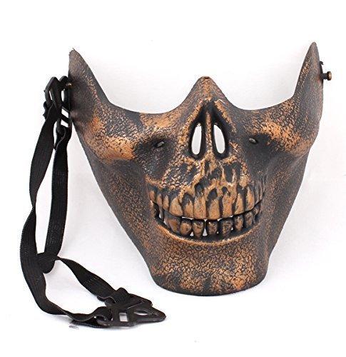 USPRO® Halloween Mask Copper Color Skeleton Warrior Decoration Costume - 1