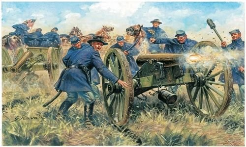 American Civil War Union Artillery Figures 1/72 Italeri - 1