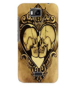 ColourCraft Funny Skulls Design Back Case Cover for HUAWEI HONOR BEE