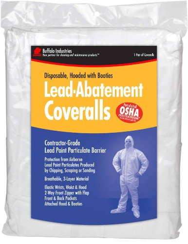 Buffalo Industries Lead Abatement Disposable Coverall , Large 68441