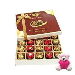 Yummy Choco Birthday Surprise With Sweet Teddy - Chocholik Luxury Chocolates