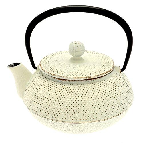 Iwachu Japanese Iron Tetsubin Teapot, Gold/White (Japanese Teapot Iwachu compare prices)