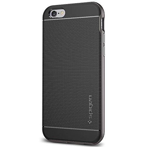 Coque iPhone 6s, Spigen [Boutons Metallique] Neo Hybrid Coque pour Apple iPhone 6 (2014) / iPhone 6s (2015) - Gunmetal (SGP11618)