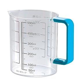 【クリックでお店のこの商品のページへ】パール金属 Colors 耐熱 計量カップ 500ml ブルー C-1394