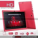 ProntoTec Axius Series 7 Inch Android 4.4 Tablet PC,HD 1024 x 600 Pixels Cortex A8 Dual Core Processor, 512MB/6GB, Dual Camera,G-Sensor, Google Play Pre-loaded -pink
