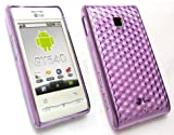EMARTBUY VALUE PACK FOR LG GT540 OPTIMUS LCD SCREEN PROTECTOR + HEXAGON PATTERN GEL SKIN COVER/CASE PURPLE + COMPATIBLE MICRO USB CAR CHARGER