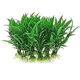 Sourcingmap Plastic Aquarium Water Plants/Aquatic Grass, 10 Pieces, Green
