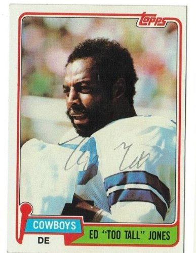Ed 'Too Tall' Jones Dallas Cowboys Autographed/Hand Signed 1981 Topps Card at Amazon.com