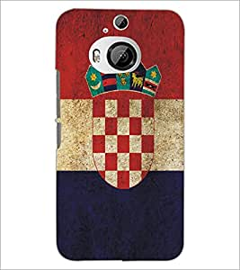 PrintDhaba Pattern Logo D-5177 Back Case Cover for HTC ONE M9 PLUS (Multi-Coloured)