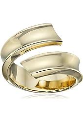 14k Yellow Gold Italian Polished Swirl Ring, Size 8
