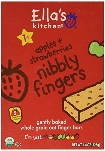 Ella's Kitchen Toddler Nibbly Fingers - Apples & Strawberries - 4.4 oz