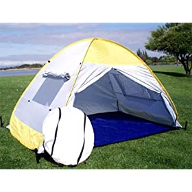 Pop up Family Cabana Tent Sun Wind Shelter Beach Tent