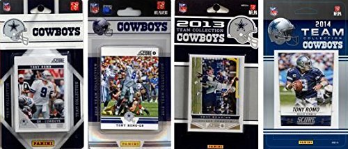 Dallas Cowboys 4 Team Gift Lot Including 2014, 2013, 2012 and 2011 Score NFL Football Factory Sealed Team Sets with Tony Romo, Dez Bryant, Jason Witten Plus Rookie Cards