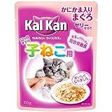 カルカン ウィスカス 味わいセレクト 12ヶ月までの子猫用 かにかま入りまぐろ 70g