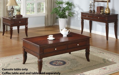 Cheap Console Table with Storage Drawers in Cherry Finish (VF_F6236)