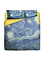 Tele d'autore by MANIFATTURE COTONIERE Edredón Van Gogh-Notte Stellata (Azul)