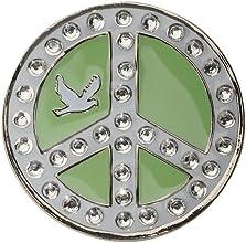 Crystal Golf Ball Marker amp Hat Visor Clip - Green Peace