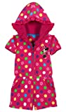 Disney Store Minnie Mouse Swimsuit Cover Up Size 3T: Pink Floral Hooded Romper
